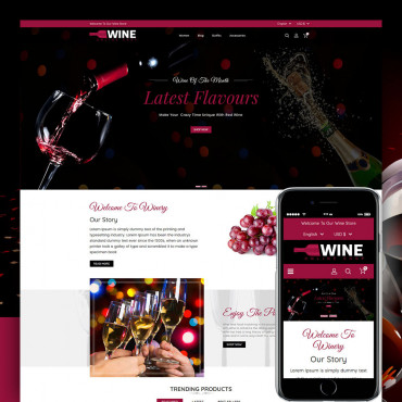 Wine Shop Prestashop responsive theme