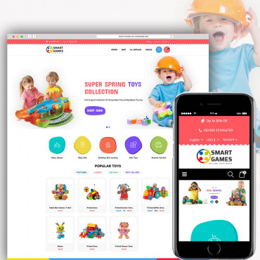 Smart Games Prestashop responsive theme