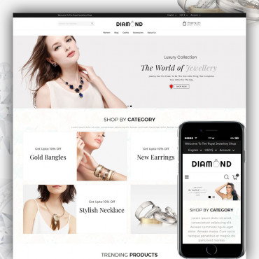 Diamond Prestashop responsive theme
