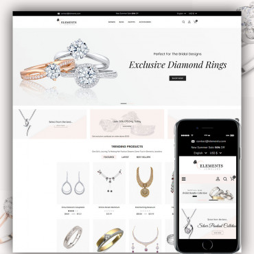 Elements Jewellers Prestashop responsive theme