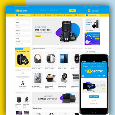 Robotic Prestashop responsive theme