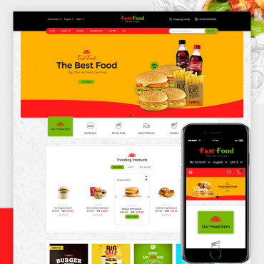 Fast Food Prestashop responsive theme
