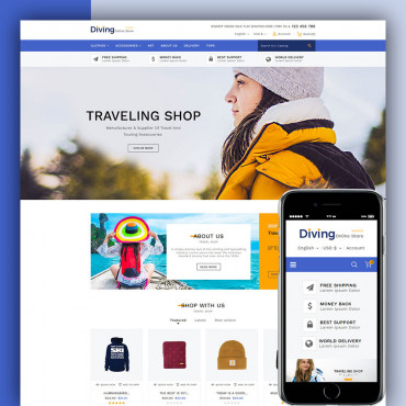 Diving Prestashop responsive theme