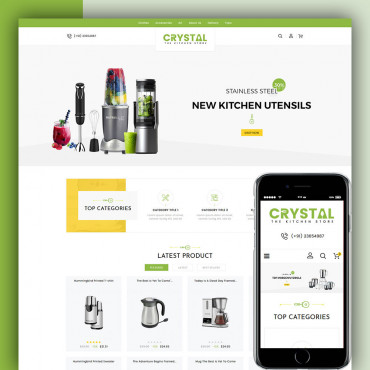 Crystal Kitchen Prestashop responsive theme