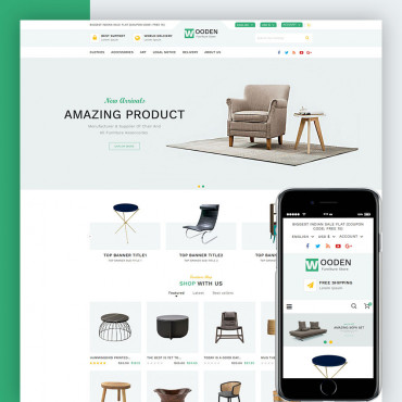 Furniture Wooden Prestashop responsive theme