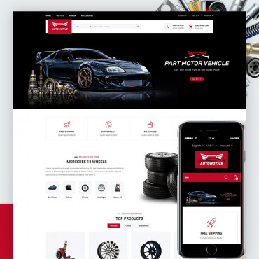 Automotive Prestashop responsive theme