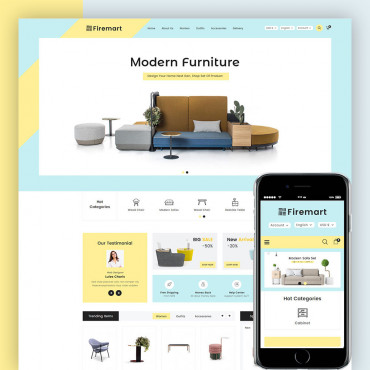 Fire Mart Furniture Prestashop responsive theme