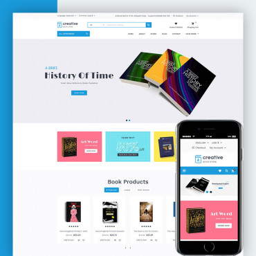 Creative Book Store Prestashop responsive theme