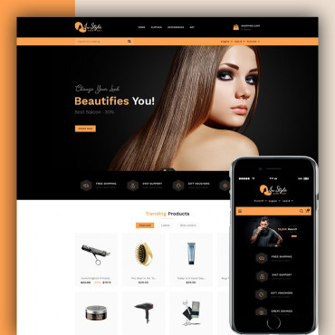 Instyle Hair Art Prestashop responsive theme