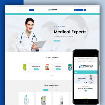 Ultramed medicare Prestashop responsive theme