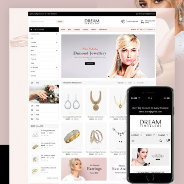 Dream Jewellery Prestashop responsive theme