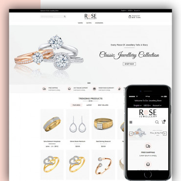 Rose Jewellery Prestashop responsive theme