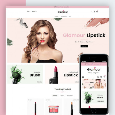 Glamour Cosmetics Prestashop responsive theme