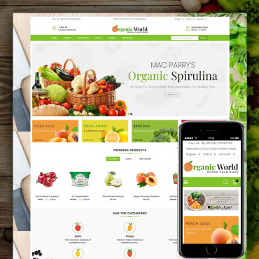 Organic World Prestashop responsive theme