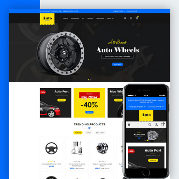 Auto Part Prestashop responsive theme